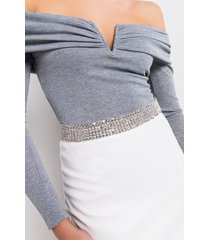 akira take it easy thick rhinestone chain belt