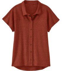 linnen-jersey blouse, papaja 40/42