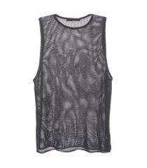 regata feminina tricot tela - preto