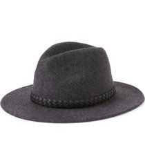 treasure & bond braided band wool fedora in grey charcoal at nordstrom