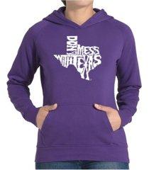 la pop art women's word art hooded sweatshirt -dont mess with texas