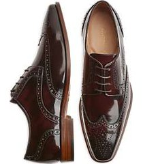 giovacchini scott burgundy wingtip derby dress shoes