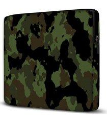 capa para notebook camuflado 15 polegadas - verde - dafiti