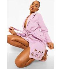blazer jurk met metalen ringetjes, lilac
