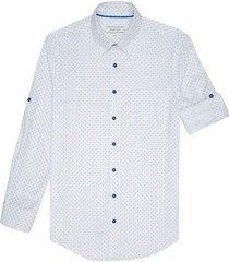 camisa casual manga larga estampada slim fit para hombre 93454