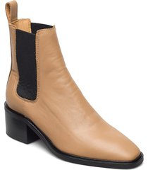 all day all night shoes boots ankle boots ankle boot - heel beige anny nord