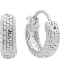 sterling silver doina huggie earrings