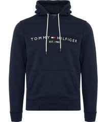 tommy hilfiger tommy logo hoodie - navy mw0mw07609