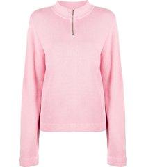 ymc ribbed high-neck sweatshirt - pink