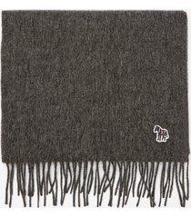 ps paul smith men's zebra badge scarf - grey