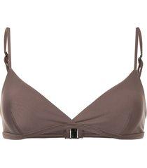 matteau tri crop bikini top - brown