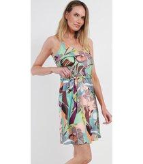 mini vestido estampado jamaica verde night concept