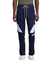 puma men's parquet drawstring cotton-blend pants - blue - size m