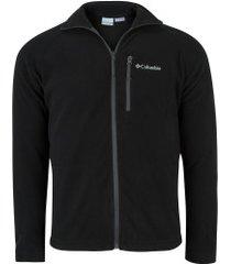 jaqueta de frio fleece columbia fast trek ii full zip - masculina - preto