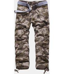 uomo casual cargo pantaloni in cotone sciolti alla moda a taglia forte