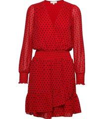 mod dot rfl dress knälång klänning röd michael kors