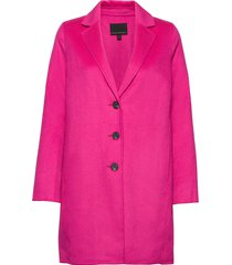 unlined double-faced topcoat wollen jas lange jas roze banana republic