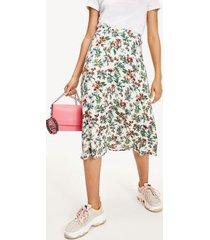 tommy hilfiger women's summer midi skirt hawaii print - xl