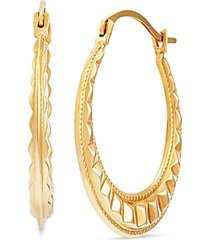 fancy hoop earrings in 14k gold