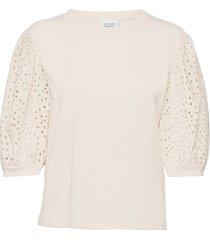 porto tee blouses short-sleeved creme second female