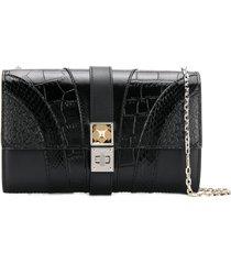 proenza schouler exotic patchwork ps11 shoulder bag - black