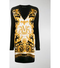 versace barocco rodeo print dress