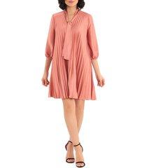 women's maggy london tie neck babydoll dress, size 2 - pink