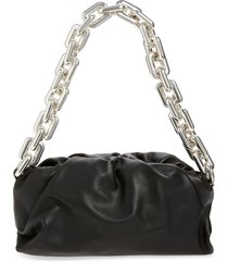 bottega veneta the chain pouch leather shoulder bag - black