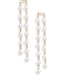 women's poppy finch duo pearl drop earrings