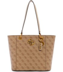 guess noelle large logo elite tote