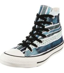 zapatilla azul converse chuck taylor all star pop hi