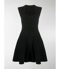 alaïa flared speckled dress