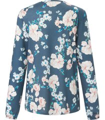 pyjama met lange mouwen en ronde hals van rösch blauw