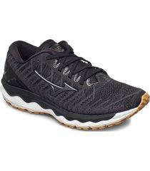 wave sky 4 waveknit w shoes sport shoes running shoes svart mizuno