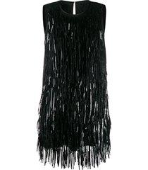 nº21 tassel shift dress - black