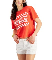 love tribe juniors' coca-cola graphic-print t-shirt
