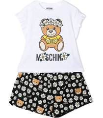 moschino t-shirt and shorts cotton set