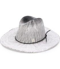 maison michel zango fedora hat - white
