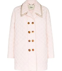 light pink quilted jacket