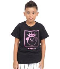 camiseta kings sneakers classic block preto - branco - masculino - dafiti