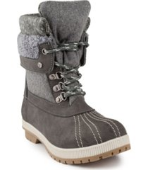 london fog women's mitten winter mid-calf boot women's shoes