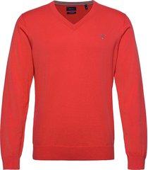 cotton wool v-neck stickad tröja v-krage orange gant