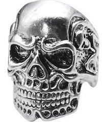 anillo hombres skull vintage punk aleacion