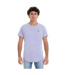 qk camiseta esp m/c scallop patch - azul mescla - m