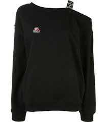 bapy by *a bathing ape® one shoulder sweater - black