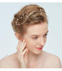 dolce capelli fatti a mano cravatta con strass catena perline ramo accessori per capelli fascia per capelli per le donne