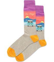 hot sox men's san diego crew socks