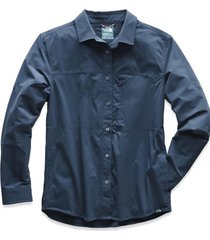 camisa boreaz l/s roll up azul the north face