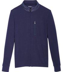 awearness kenneth cole awear-tech modern fit full-zip hoodie blue