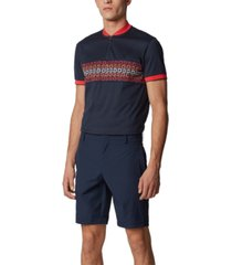 boss men's liem navy shorts